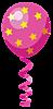 Розовый шарик со звездами смайлики картинки