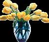 Гиф gif Ваза с цветами рисунок