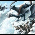 Гиф gif Снежный дракон рисунок