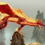 Картинка Красный дракон анимация