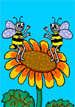 Смайлик Две пчелки на цветочкеb аватар