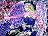 Картинка Ангел в синем наряде анимация