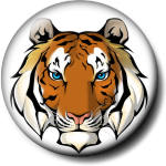 Картинка Голубоглазый тигр анимация